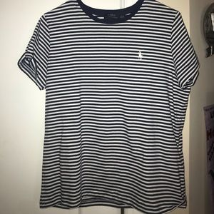 Ralph Lauren Polo Tee Navy Blue and White Striped